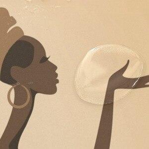 Image 5 - Ekologiczne afrykańskie kobiety zasłony prysznicowe wodoodporna kurtyna kąpielowa z tkaniny poliestrowej do łazienki z 12 hakami Home Decor