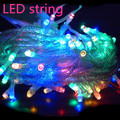8 Modes Display Colorful 100LED 10m Led String Light for Holidays Party Wedding led Christmas Decoration Lighting Free shipping