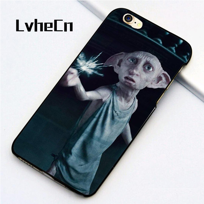 LvheCn 5 5S SE phone cover <font><b>cases</b></font> for <font><b>iphone</b></font> 6 6S 7 <font><b>8</b></font> Plus X back skin shell DOBBY MAGIC <font><b>HARRY</b></font> <font><b>POTTER</b></font> image