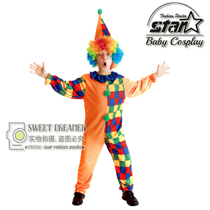 Halloween Clown Costume Clothing For Children Classic Cosplay Suit Set For Kids Boys Kids Christmas Stage Performance Wear halloween party pirate capain jack cosplay boy clothing halloween costume for kids children performance stage costumes
