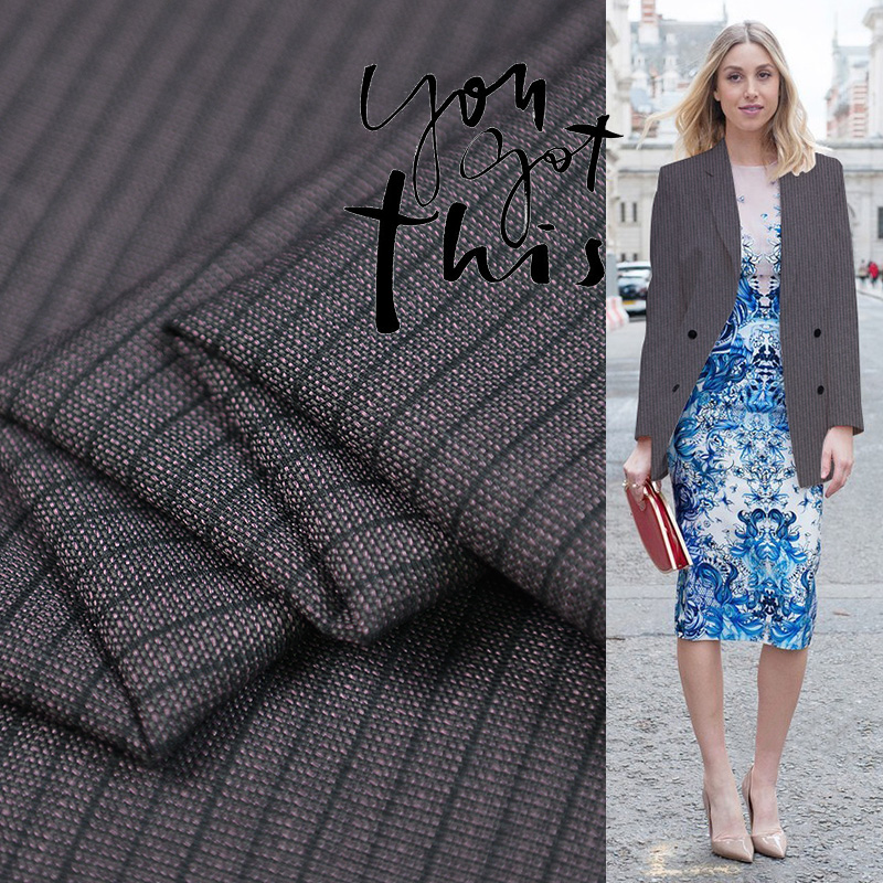 18 Autumn&winter New Rib 80% wool 15% viscose 5% silk Worsted Fabric For Women Coat 150cm wide Skin texture Fashion cloth Sewing