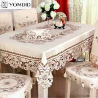 Pano de mesa bordado que janta/toalha de mesa retangular floral do casamento para o hotel casa redondo e o pano de mesa quadrado