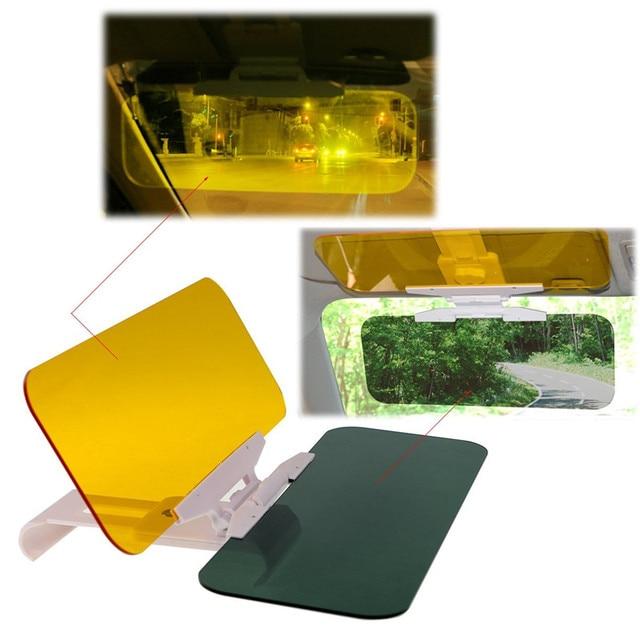2 in 1 Car Automobile Sun Anti-UV Block Visor Day and Night Non Glare Anti-Dazzle Sunshade Mirror Driver Goggles Shield