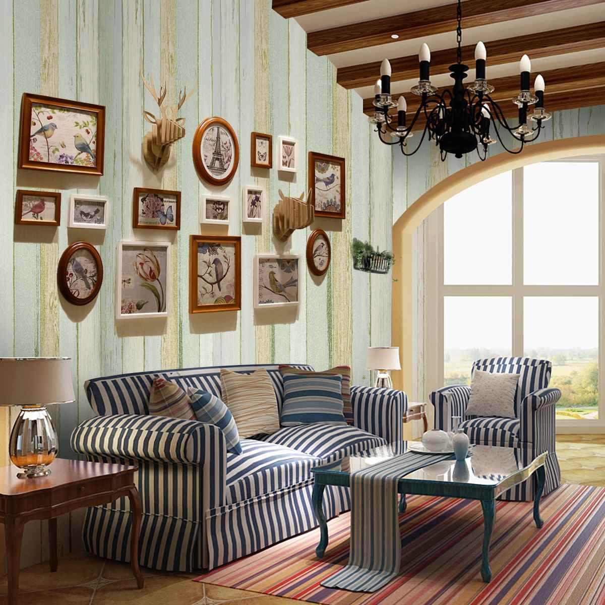 Винтажные Ретро домашние украшения для комнаты 3D обои рулон Реалистичная деревянная панель ling timber Plank панель полоса обои стикер
