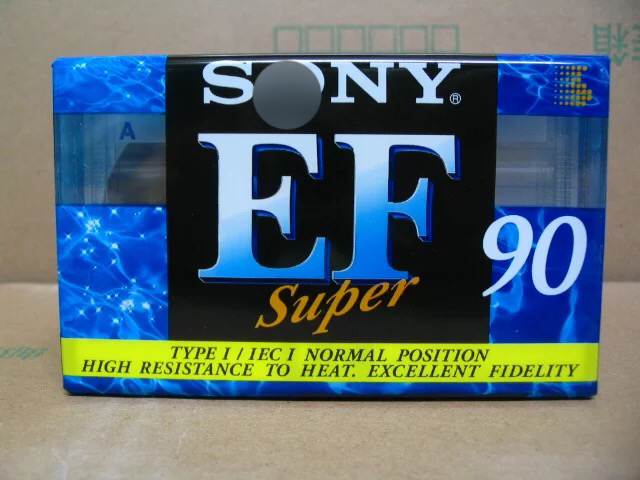 EF90 90 Minutes Authentic Normal Position Type 1 Recording Blank Cassette Tapes.