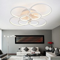 Ultra thin acrylic 4/6/8/10 Ring LED Ceiling Light Living Room Bedroom Modern Business Place LED Dimming Ceiling Lamp AC110 240V