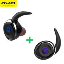 AWEI T1 СПЦ Bluetooth наушники мини Bluetooth V4.2 гарнитуры двойной Беспроводной наушники беспроводные наушники Kulakl k шлем