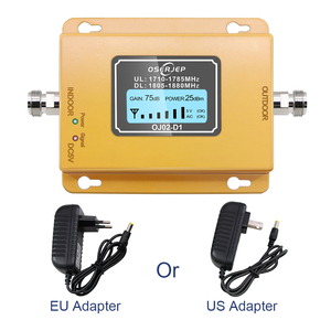 Image 3 - GSM LTE 1800 LCD 70dB Gain 2g 4g band3 Cell Phone Signal Repeater DCS 1800MHz Mobile Amplifier GSM Signal Booster + Antenna