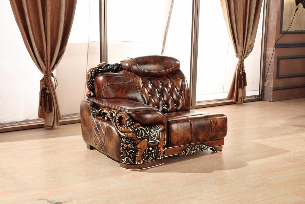Sofá de cuero europeo Sala China marco de madera sofá de la esquina ...