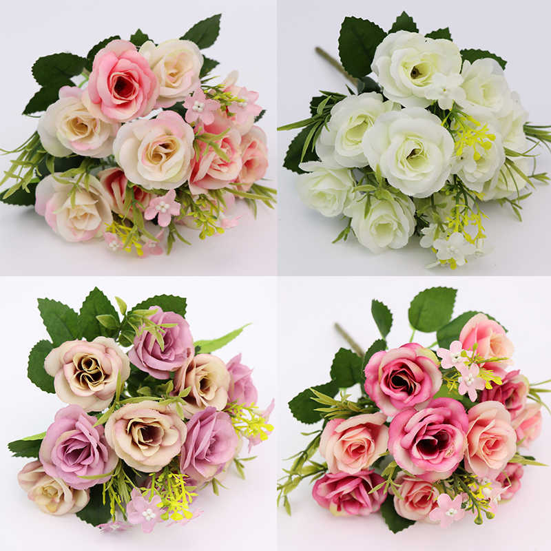 Цветы на розовую свадьбу 11