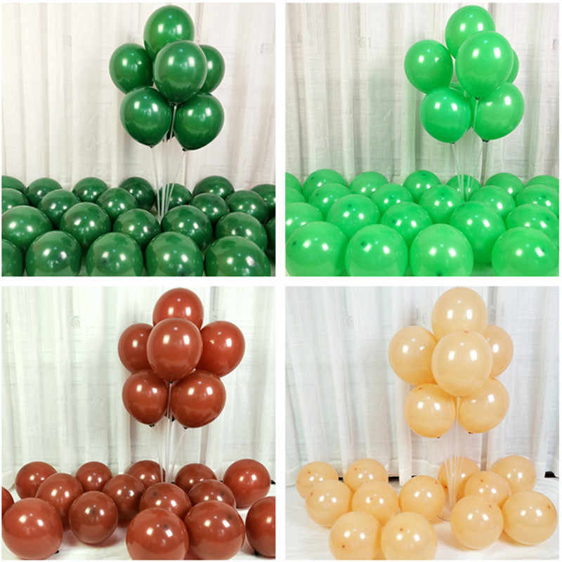 10pcs 12 inch Brown Matte Latex Balloons Inflatable Globos Wedding Decorations Air Balls Happy Birthday Party Supplies Balloons