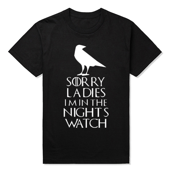 Round Neck Night's Watch Men T-Shirts
