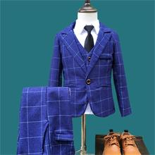 Hot New Children Suit Baby Boys Suits Kids Blazer Boys Formal Suit For Wedding Boys Clothes Set Jackets Blazer+Pants 3pcs 2-10Y