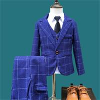 Hot New Children Suit Baby Boys Suits Kids Blazer Boys Formal Suit For Wedding Boys Clothes Set Jackets Blazer+Pants 3pcs 2 10Y