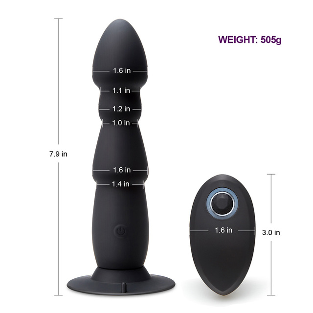 Anal Plug Vibrator with wireless remote control dimensions
