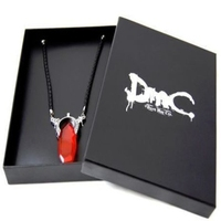 DMC Devil Cry Dante Vergil Crystal Pendant Necklace 925 Silver Men Necklace Game Jewelry Valentine's Day Gift Boyfriend