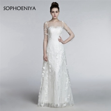 Sophoeniya Three Quarter Sleeve Mermaid Wedding dresses