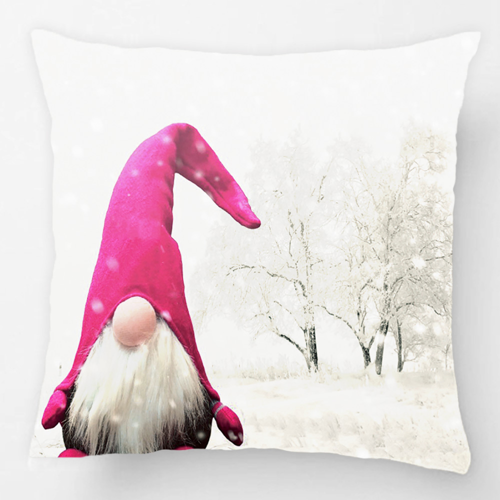 Duende lindo de Invierno Blanco Throw Pillow Case Cojín Decorativo ...