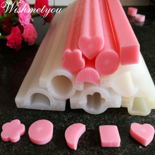 WISHMETYOU DIY Handmade Soap Mold Silicone Tube Column For Craft Flowers Candle Cake Decorating Making Tools Supplies