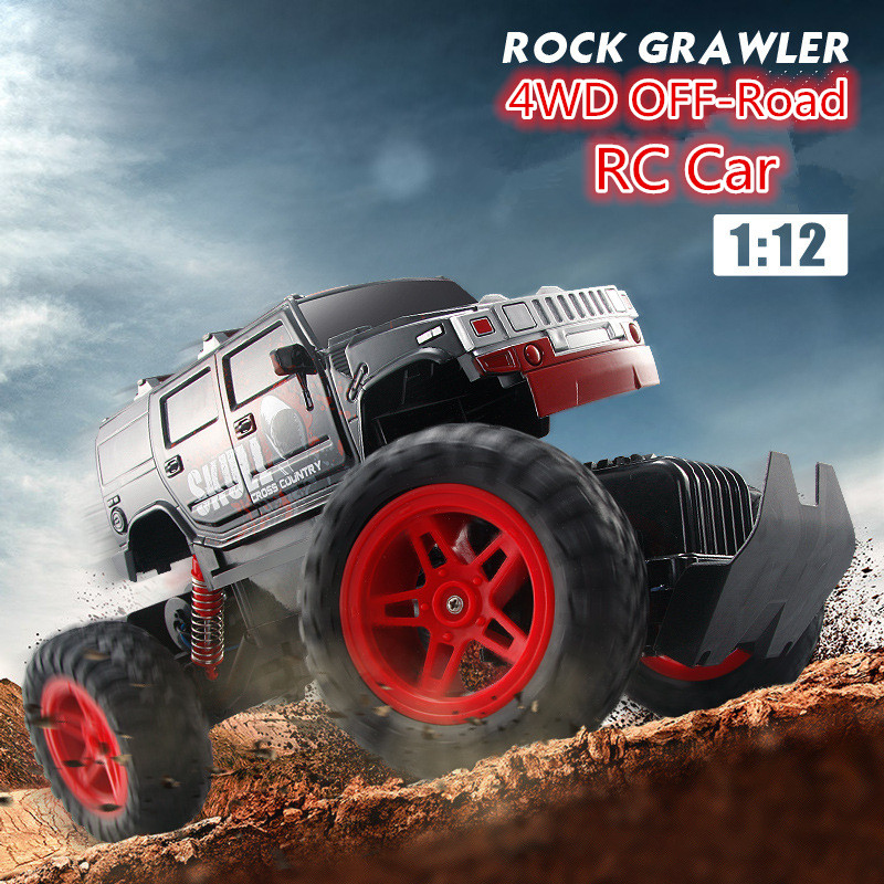 Best gift Rc Car 1/12 Scale Off Road Monster Truck 4wd Remote Control Car D810/D811 rock crawler Electric Car Remote Control Toy