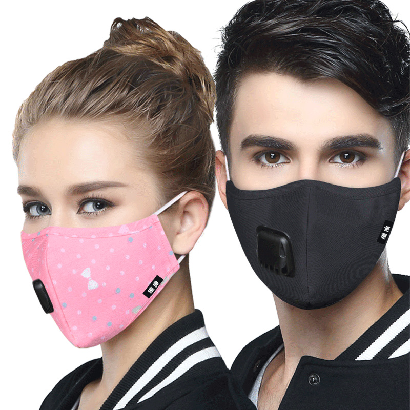 Anti Pollution Mask Mouth Face Mask Air Filter Respirator Dust Mask PM2.5 Mask 5 Layers Washable Cotton Korean Mouth Muffle Mask