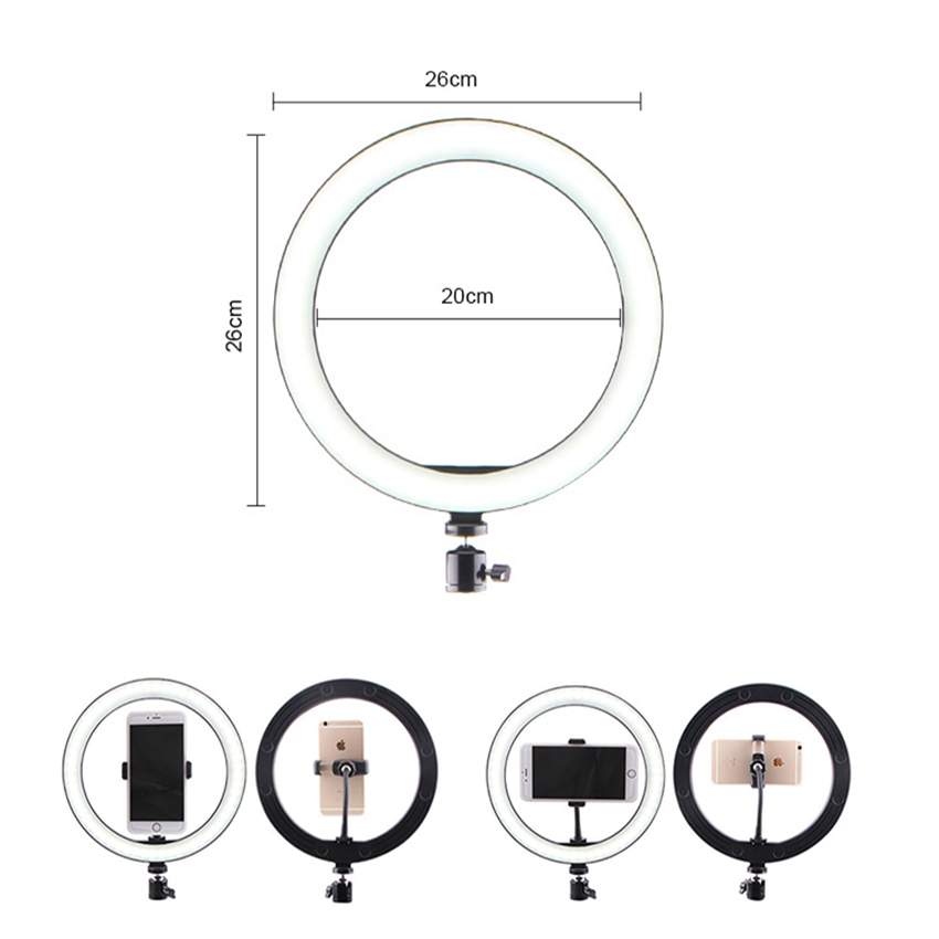 New Led Ring Flash Lights With Holder For iPhone Xiaomi Huawei Samsung Phones 17