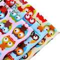 Print Twill Cotton Fabric Patchwork For Sewing Quilt Scrapbooking Tissue Pattern Needlework Material Curtain Cloth Owl CC001