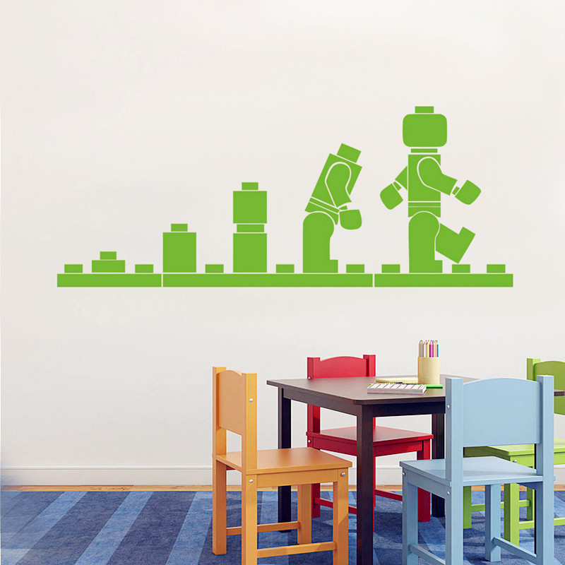 Lego Evolution Wall Decal Vinyl Sticker Lego Games Fun Wallpaper Kidu0027s Playroom  Wall Art Mural Decor Cartoon Games Mural In Wall Stickers From Home U0026  Garden ...