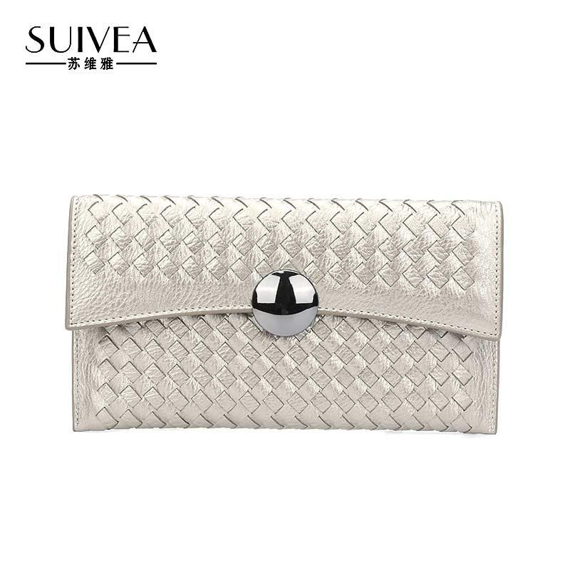 SUIVEA Brand Women Day Clutches Bag Cross Body Bag Fashion Lady Envelope Bag Women Long Leather