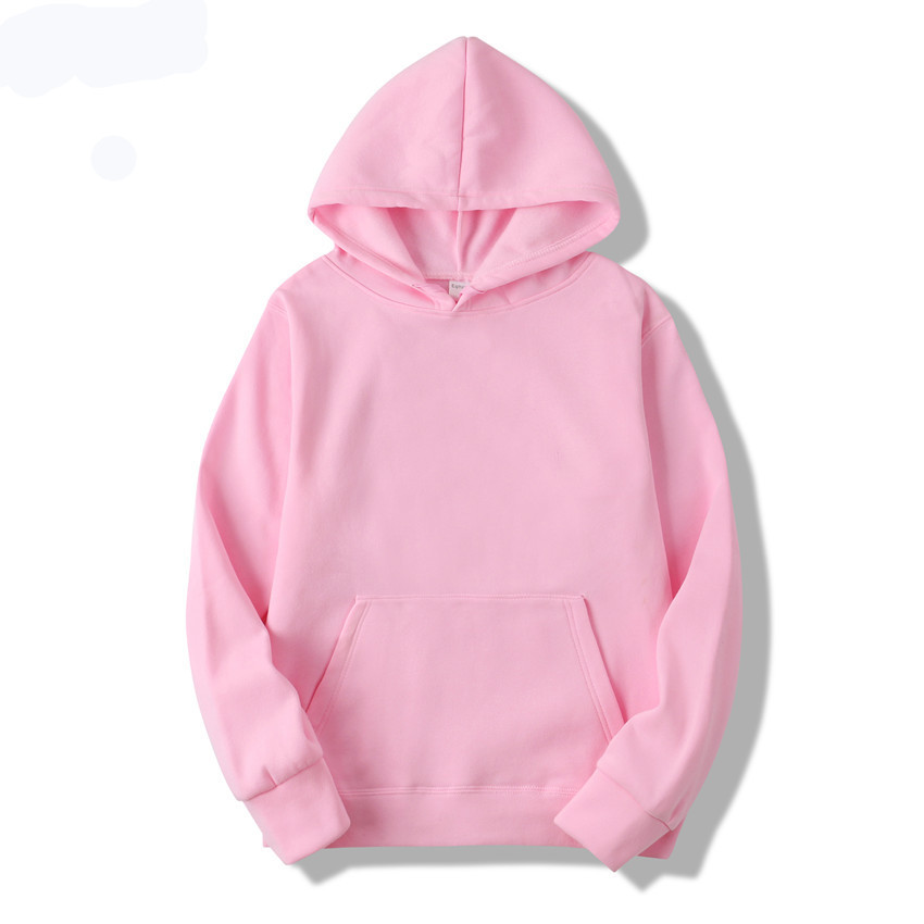 Hoodie Pullover Streetwear Hip-Hop Solid-Color Casual High-Quality New