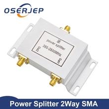 2 דרך SMA סוג כוח מפריד SMA ספליטר 380 ~ 2500MHz עבור GSM UMTS WCDMA CDMA 2G 3G 4G lte אות נייד אות מאיץ מהדר