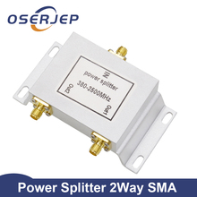 2 weg SMA Typ Power Divider SMA Splitter 380 ~ 2500MHz für GSM UMTS WCDMA CDMA 2G 3G 4G lte Signal Handy Signal Booster Repeater