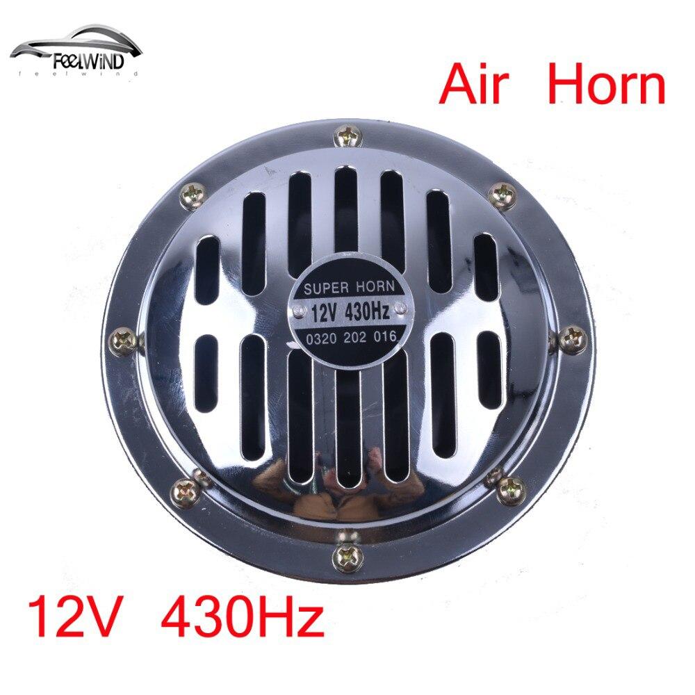 ⓪125mm bocina de aire eléctrica 12 V ruidoso cromo color bobina de ...