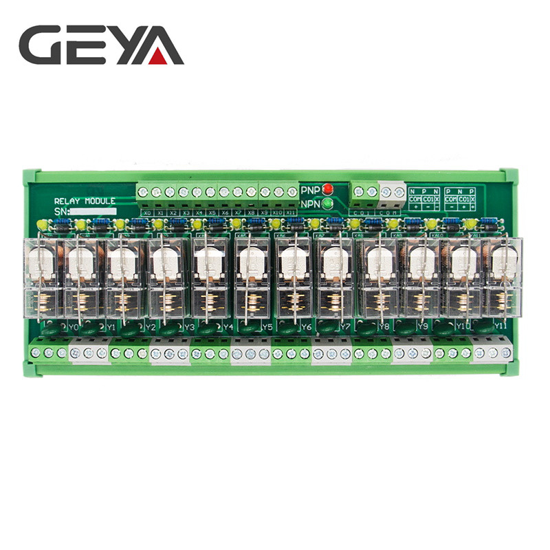 GEYA NG2R Din Rail 12 Group Relay Module Omron Replaceable Relay Board 12VDC 24VDC SPDT RELAY in Relays from Home Improvement