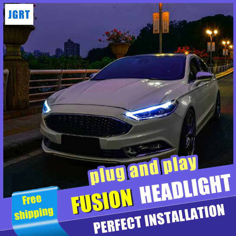 Head Lamps Car Styling For Ford Fusion Headlights 2017 2018 Mondeo H7 Bi