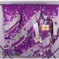 Love Live! Tojo Nozomi SR New Year Purple Printing Japanese Kimono Dress Cosplay Costume