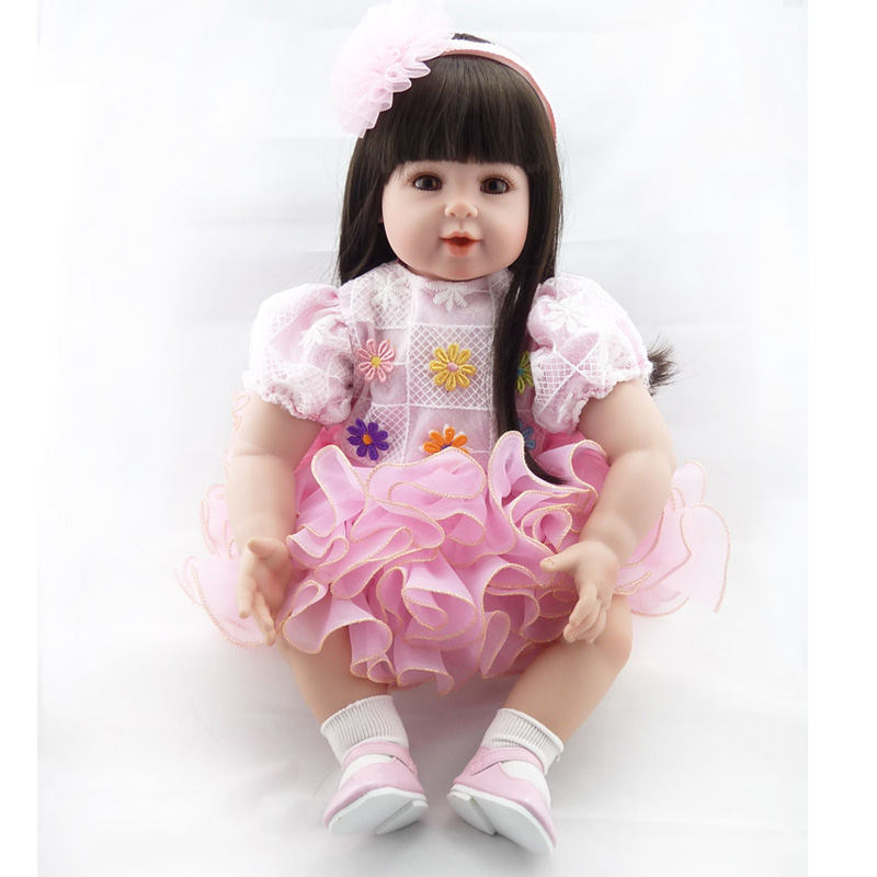 New Arrival 20 inch Handmade Baby Toy Cotton Realistic Soft Silicone Reborn Babies Doll  ...