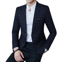 men blazers New Arrival Brand Clothing Autumn Suit Blazer Men business Fashion Slim Suits Casual grid stripe Masculine Blazer