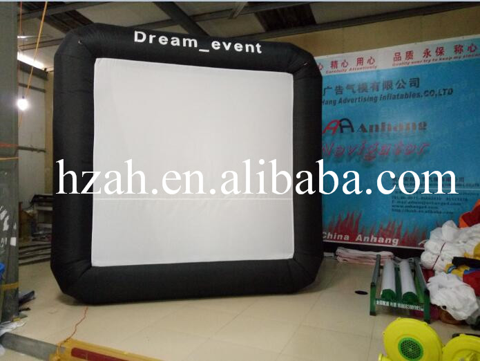 Advertising Inflatable Home Screen,Inflatable Projection Screen with Air Blower цена и фото