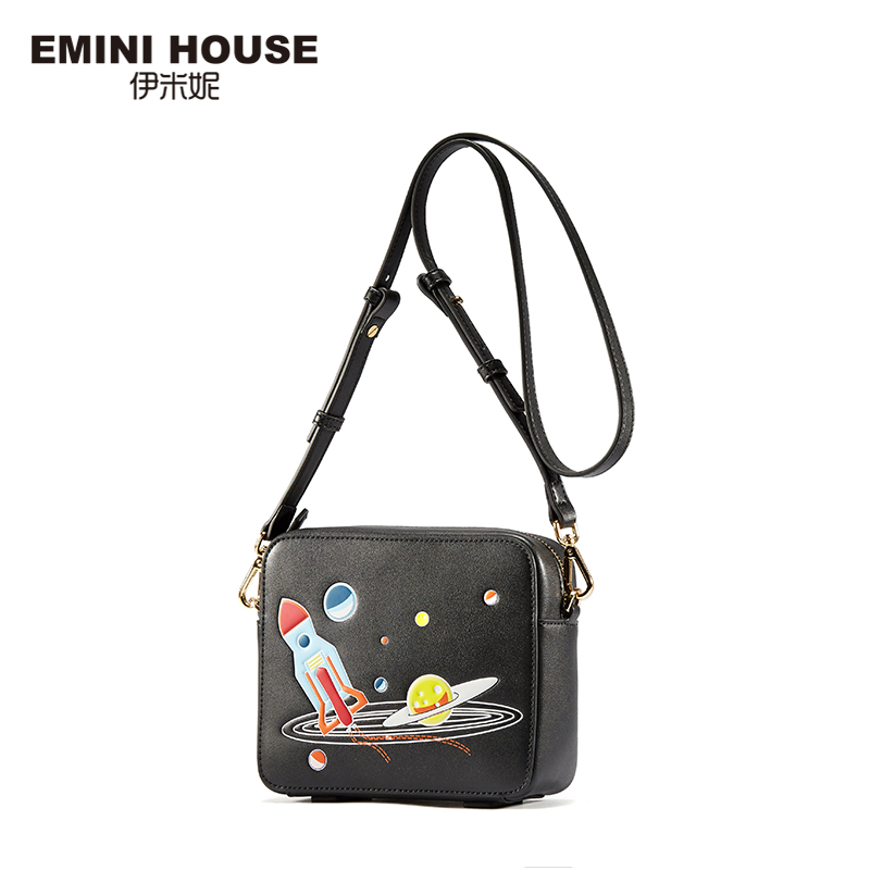 EMINI HOUSE Space Series Flap Bag Split Leather Crossbody Bag For Women Fashion Mini Shoulder Bags Women Messenger Bags 2017 fashion all match retro split leather women bag top grade small shoulder bags multilayer mini chain women messenger bags