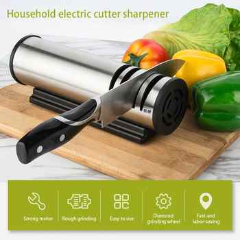 Sharpening Stone Two Stages Kitchen Knife 4 Slot Electric Grind Chopping Cutter Fast Stainless Steel Ceramic Home Knife Sharpene - DISCOUNT ITEM  29% OFF All Category