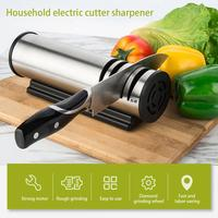 Sharpening Stone Two Stages Kitchen Knife 4 Slot Electric Grind Chopping Cutter Fast Stainless Steel Ceramic Home Knife Sharpene