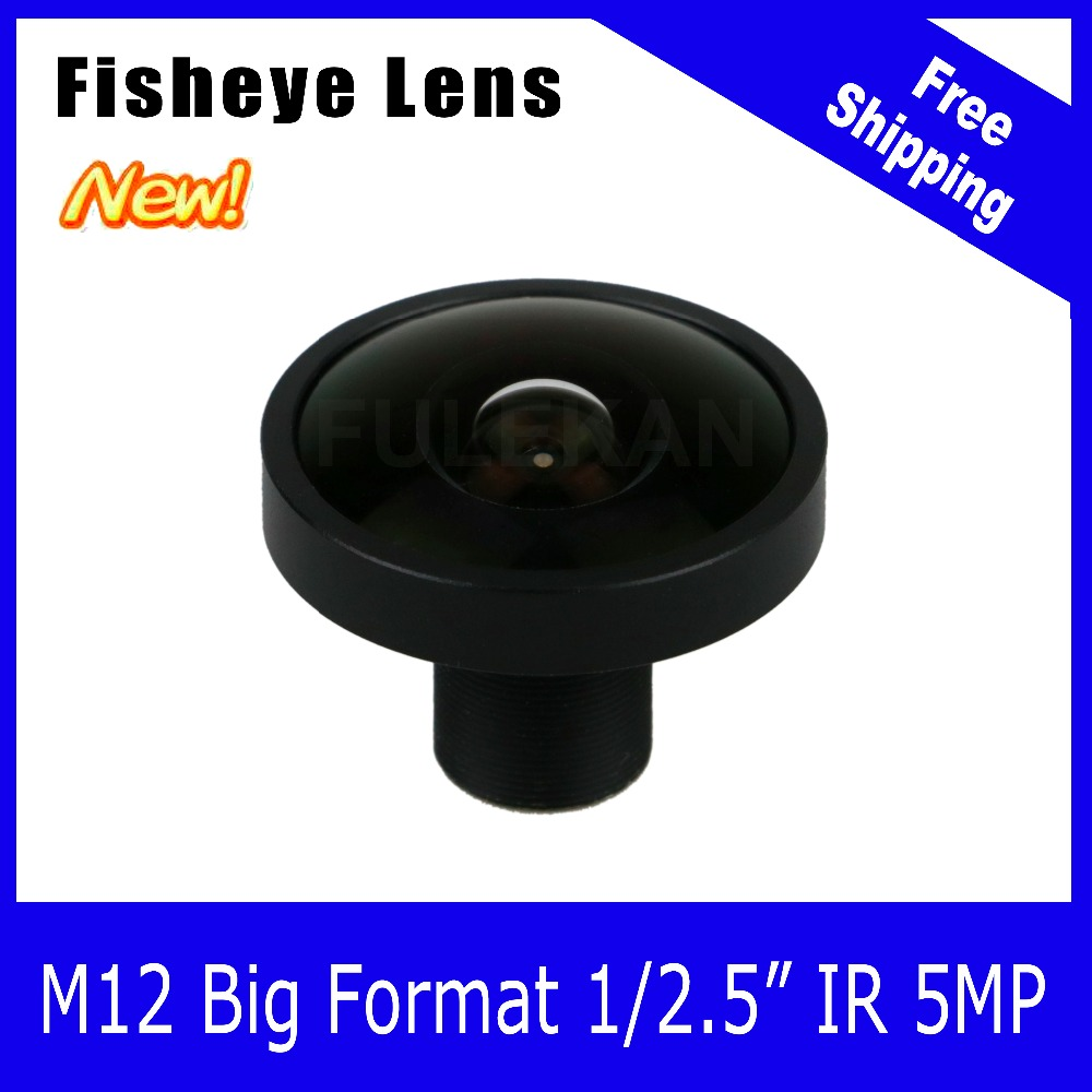 5Megapixel Big Format 1/2.5 inch For IMX290/291/323 190 degree Fisheye Starlight Lens 2.0mm IP CCTV Camera Free Shipping starlight lens 3mp 4mm fixed aperture f1 5 for sony imx290 imx291 ip camera free shipping