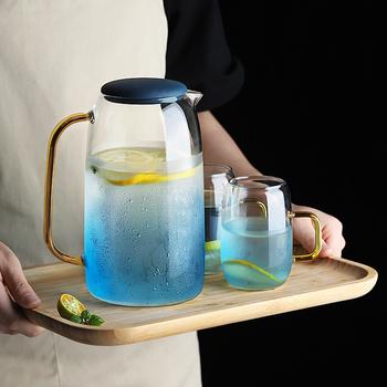 Duży dzbanek na wodę szklany dzbanek na wodę do użytku domowego czajnik dzbanek na herbatę szklany dzbanek na wodę dzbanek na wodę z uchwytem do wrzenia zimny szklany dzbanek tanie i dobre opinie CN (pochodzenie) Szkło Na stanie Ekologiczne GYBL1626 Woda garnki i kotły CE UE 300ml 1550ml High Boroilicate Glass teapot with infuser