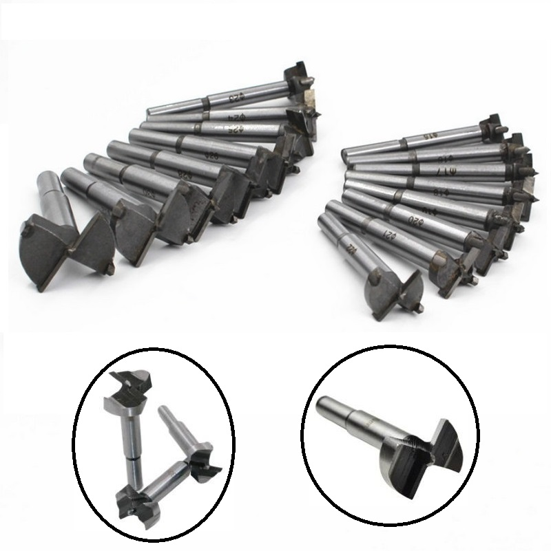 16pcs Woodworking Boring Wood Hole Opener Saw Cutter Alloy Drill Bit Wood Working Flat Bits 15mm-35mm Hand Tool A Set of Keys