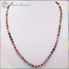 Яркие качественные натуральные многоцветные турмалиновые граненые бусины Roudell с серебряным золотым покрытием ожерелье и браслеты