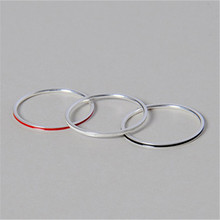 Newest 100% real pure 925 Sterling Silver with white, red, black enamel stacking Ring Jewelry Wholesales