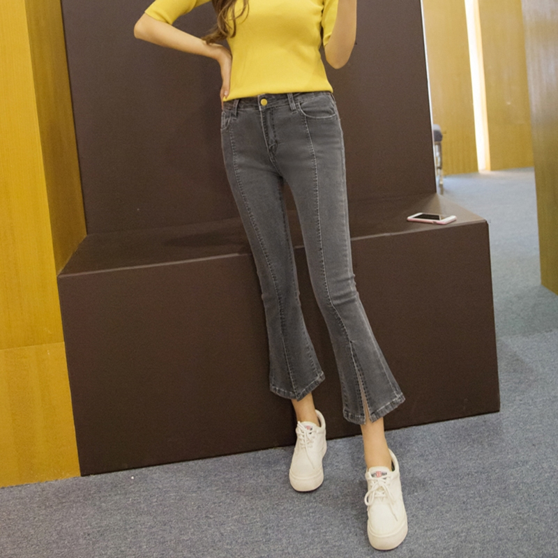 2017 autumn women`s fall acid wash ultra stretch cropped denim capris pants jeans for women jean trousers inc new solid white women s size 0 knitted capris cropped pants $59 056