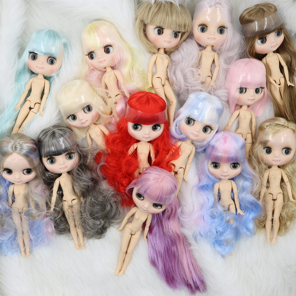 """8/"""" Neo Middie Blythe Doll  Nude Doll From Factory Matte Face Pink Purple Hair"""