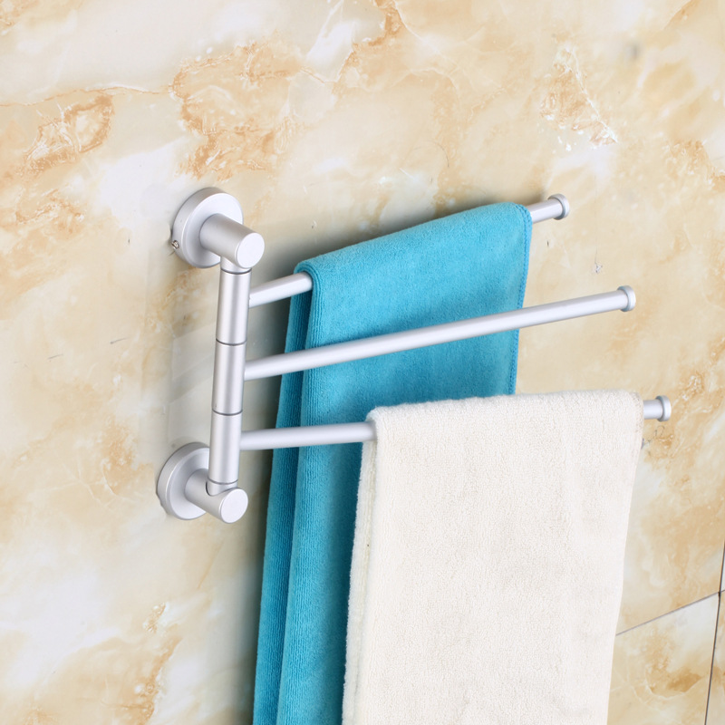 US $9.97 5% OFF Stainless Steel Towel Hanger Rack Bar Rotating Towel Rack  Bathroom Kitchen Towel Polished Rack Holder Hardware Accessory-in Towel  Bars ...